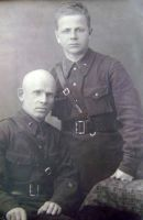 Кузнецов Н.И. (справа). 1940 г.