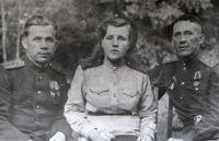 Нижегородова А.И. с товарищами. 1944 г.