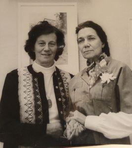 Д.Г.Соколкова и А.И.Богоявленская. 1980-е годы.
