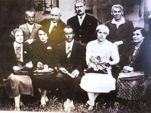 Богоявленский среди сотрудников музея. 1939 год.
