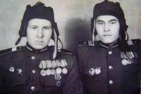 Бронников Е.П. (справа). 1945 г.