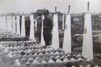 Захоронение умерших в соликамских госпиталях. 1950 г.