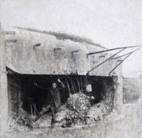 Москалев В.С. в укреплении противника. 1945 г.