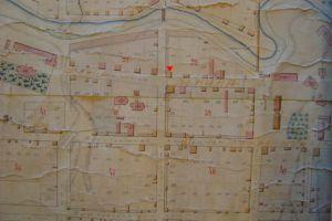 Фрагмент плана 1863 г. с указанием дома на месте захоронения.