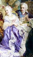 Лопухина и Левенвольде. Фрагмент картины В.И. Якоби