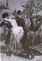Рисунок казни Лопухиной из книги Н.Н. Евреинова