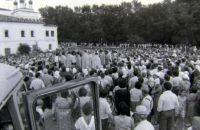 Молебен в 9 Пятницу. Фото В.А. Савинова. 1991 г.