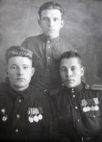 Матушкин А.Н. (справа) с товарищами. 1948 г.